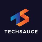 Techsauce logo square onblack